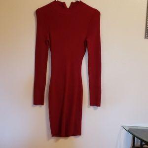 Burgundy FashionNova Dress
